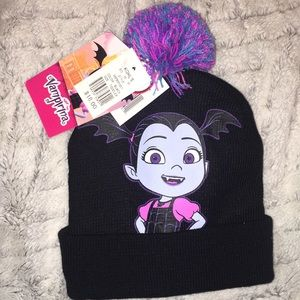 Little girls Disney Vampirina hat and gloves set